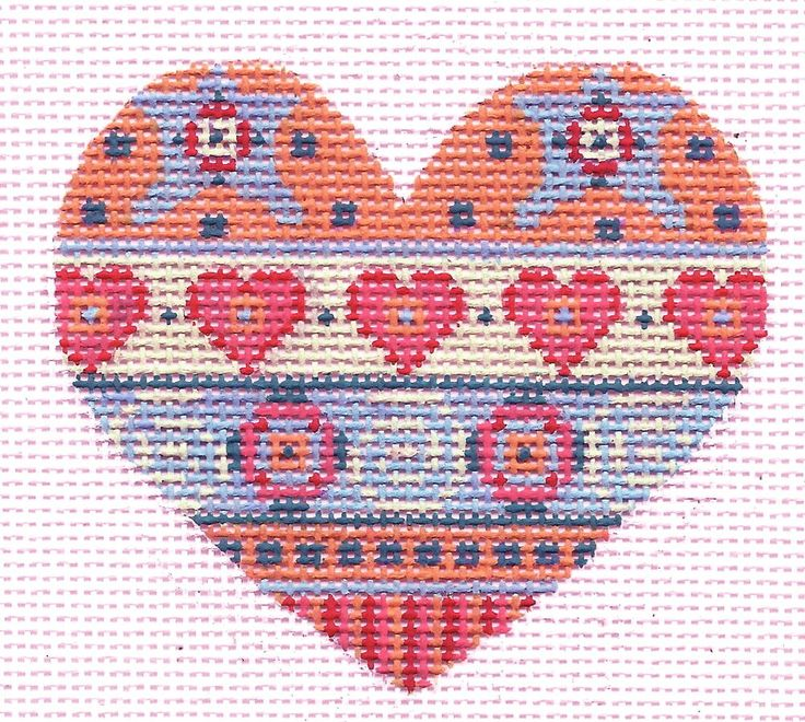 valentine needlepoint pillows