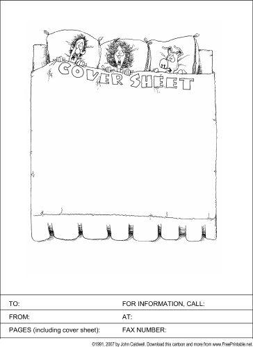 sample printable fax cover sheet