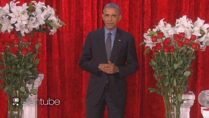 LE SCAN TÉLÉ / VIDÉO - Roi du show, l'actuel président américain est resté fidèle à lui-même dans l'émission d'Ellen DeGeneres. À l'occasion de la Saint-Valentin, il a enregistré un mot doux pour son épouse.