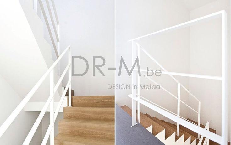 25 beste idee n over hout trapleuningen op pinterest - Moderne houten trap ...