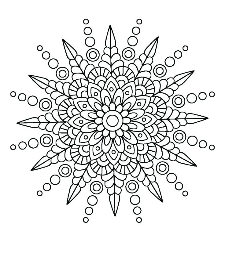 Simple Mandala Design Drawing Printable Circles Coloring Pages