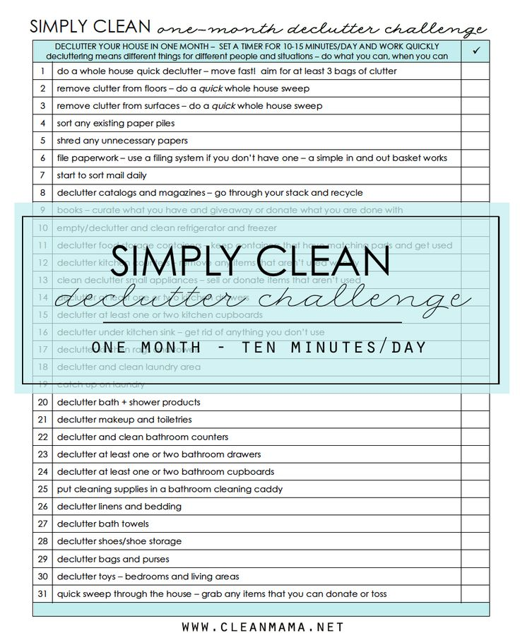Ready for a fresh start and a clutter-free home? Print out this FREE resource for daily guidance.