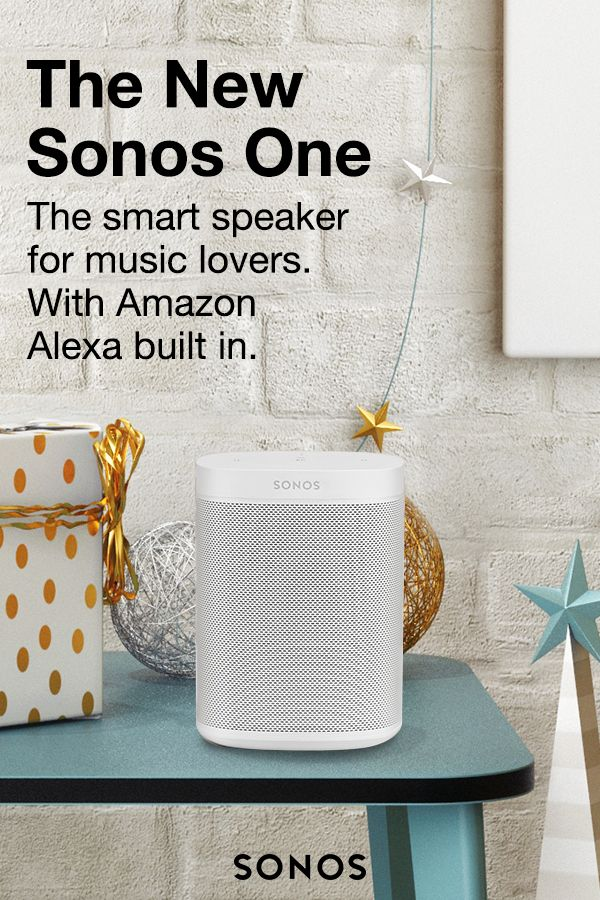 Sonos One is showing up on everyone's list this year. It blends great sound with Amazon Alexa for hands-free control of all their music in one place.