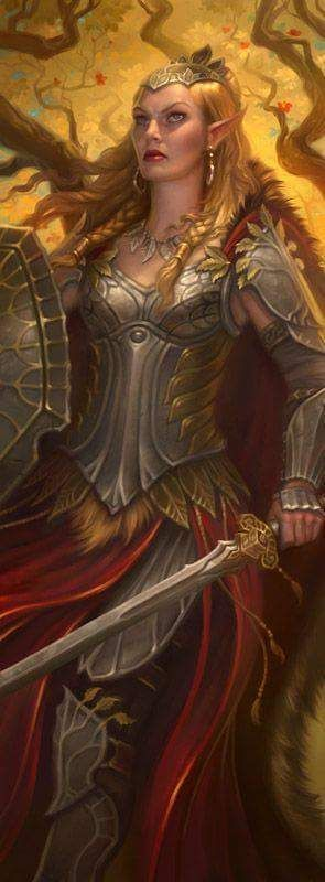 Dhalrindrel, a Rainha Elfa de Skellige.