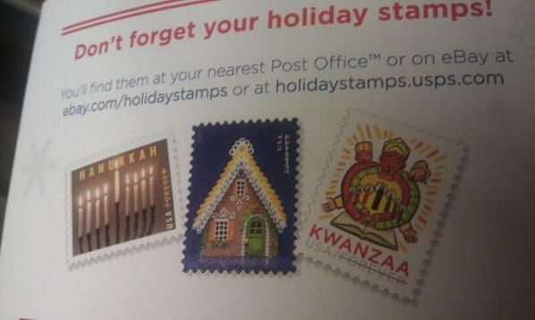 USPS Ad Leaves Out Christmas, but includes Stamps for Hanukkah, Kwanzaa...