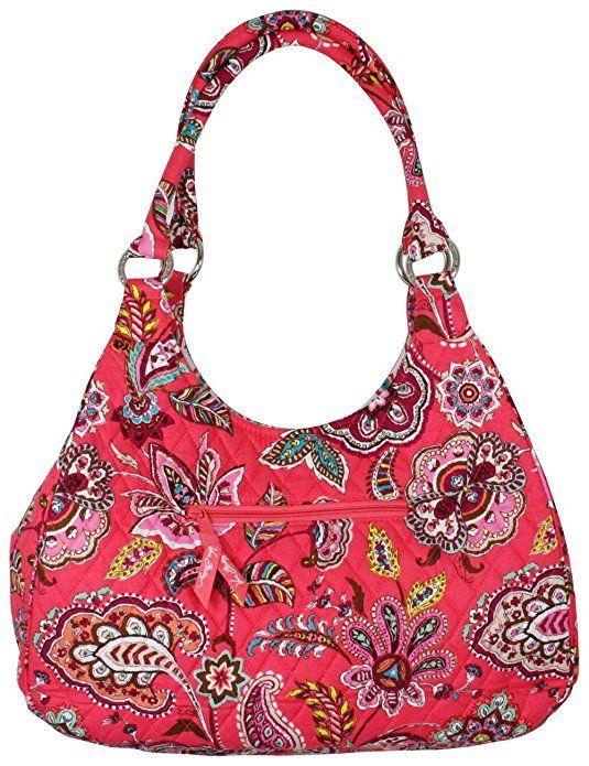 49ff05810596 Vera Bradley Large Hobo Call Me Coral Purse Handbag Bag | Bella ...