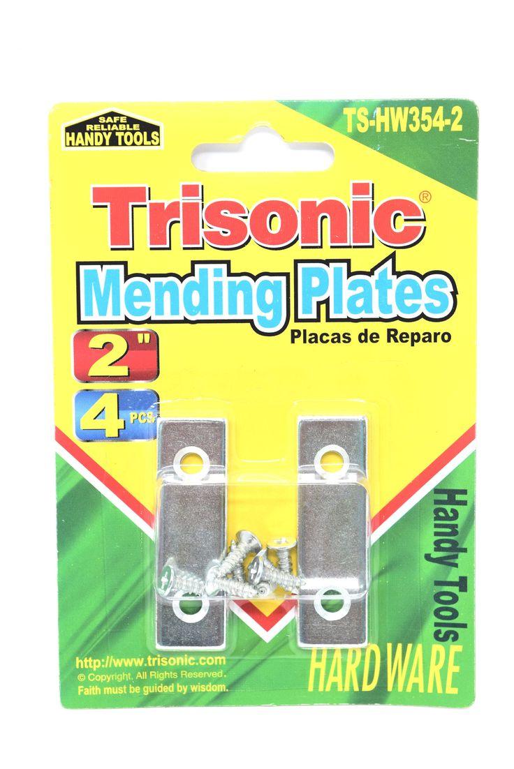 """Trisonic 2"""" Mending Plates, 4 Pieces"""