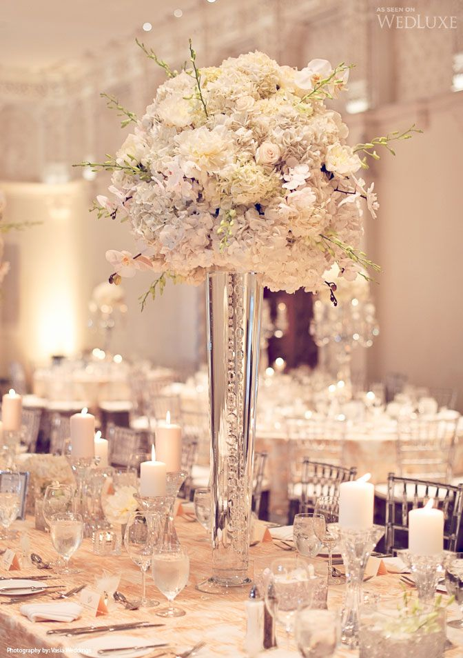 83 best images about centerpieces on pinterest for Wedding reception centrepieces
