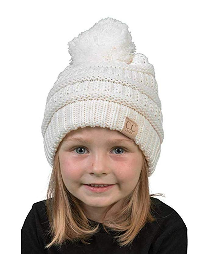 cc0daa82ec337  12 Amazon.com  Motobear CC Kids Beanie Hat Baby Toddler Knit Children Pom  Winter Hat CC Beanie Kids 2-7 Years old-17 Colors (Multi Teal)  Clothing