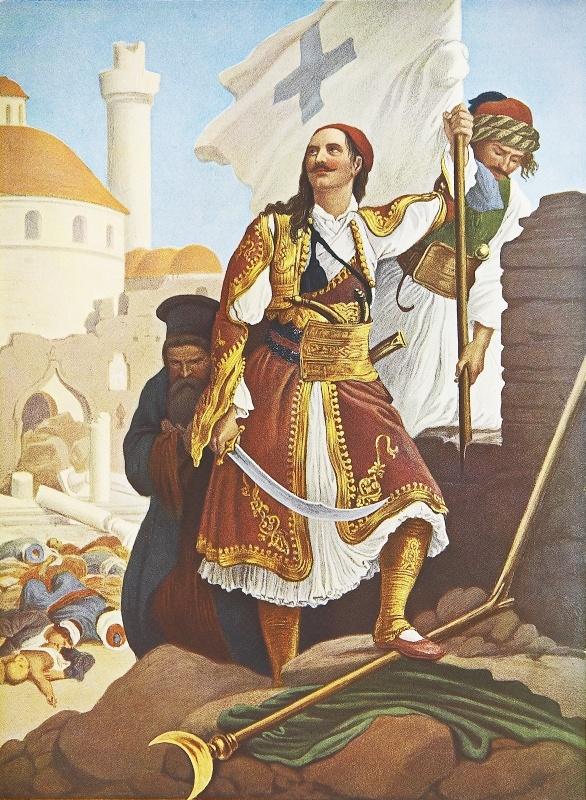 Λεύκωμα : Το Ηρώον του Αγώνος -Παναγιώτης Κεφάλας.Πρόκειται για ανατύπωση τετραχρωμίας του πίνακα του Von Hess με θέμα τον αγωνιστή του 21 Παναγιώτη Κεφάλα. Ο Κεφάλας, γνωστός Πελοποννήσιος αγωνιστής, ήταν ο πρώτος που μπήκε στην Τρίπολι στις 23 Σεπτεμβρίου 1821 και ύψωσε στα τείχοι της την Ελληνική σημαία. Σκοτώθηκε στη μάχη στο Μανιάκι με τον Παπαφλέσσα.Ο γερμανός ζωγράφος Peter Von Hess φιλοτέχνησε κατά το διάστημα 1827-1834, 40 λιθογραφίες με θέματα από την Ελληνική Επανάσταση