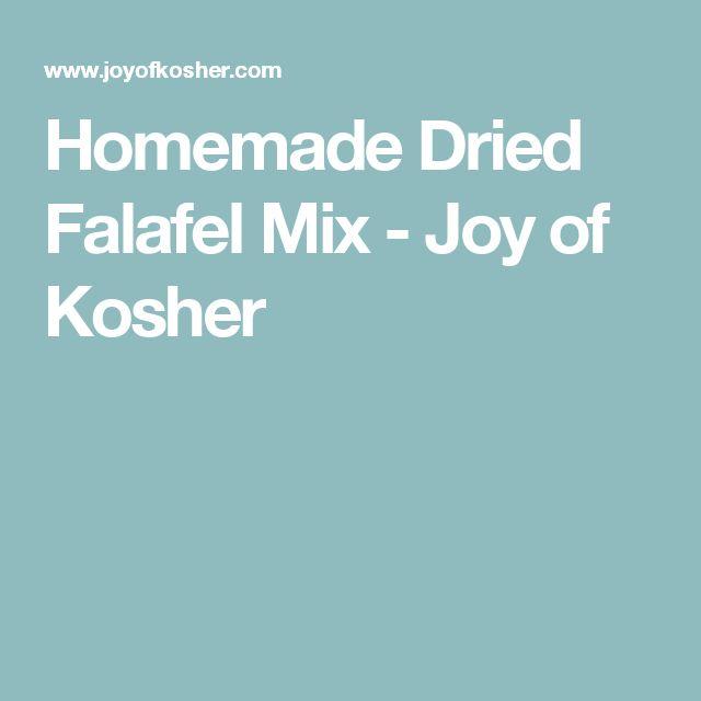 Homemade Dried Falafel Mix - Joy of Kosher