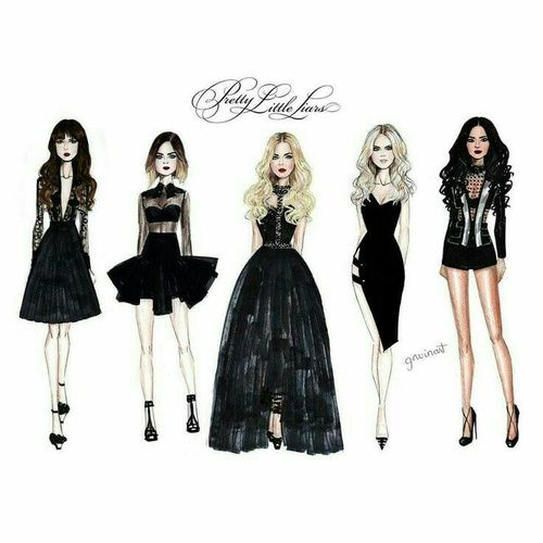 pll, pretty little liars, and pll draw image