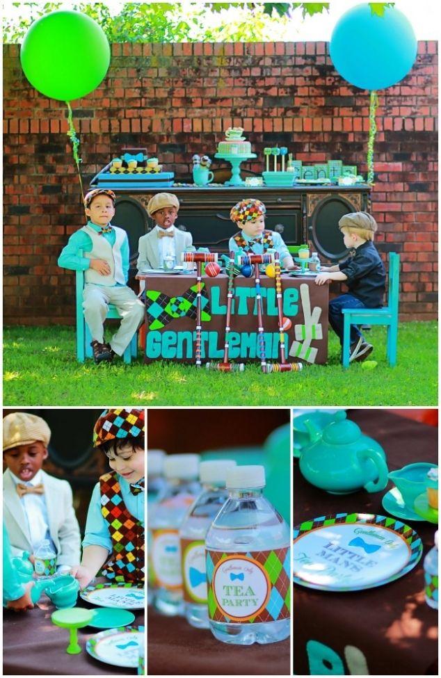 A tea party for boys - very cute ideas. Amei essa festa para meninos