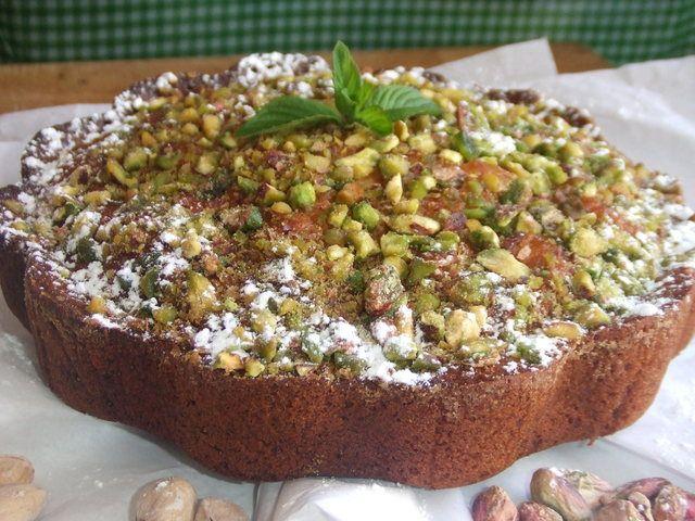 Pastel especial de pistachos y naranja. Ver la receta http://www.mis-recetas.org/recetas/show/43722-pastel-especial-de-pistachos-y-naranja
