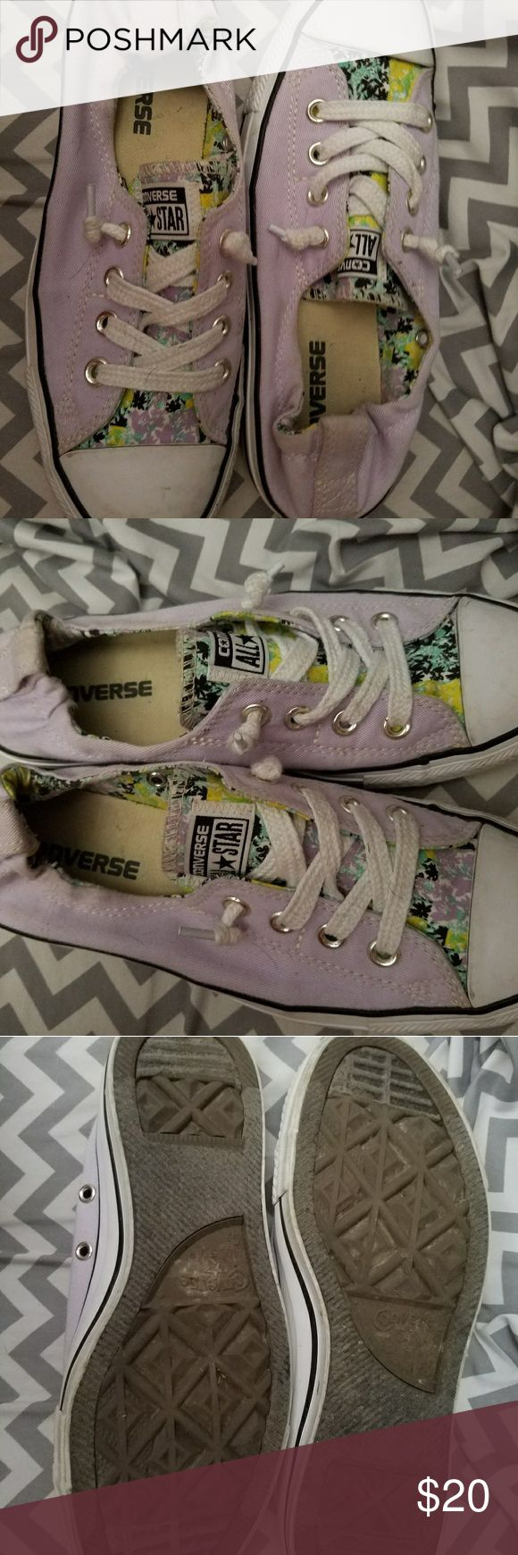 Converse slip on shoes Size 7.5 lavender slip on converse. Loved these shoes but they were slightly big on me. Converse Shoes Sneakers