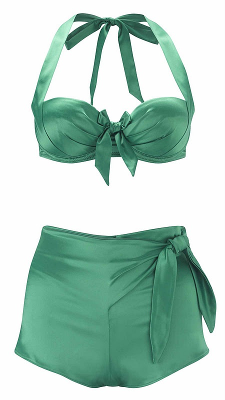 Paloma Faith 'Emerald' set (La Senza collaboration). Just SO very retro and chic! Gorgeous shade of jade...