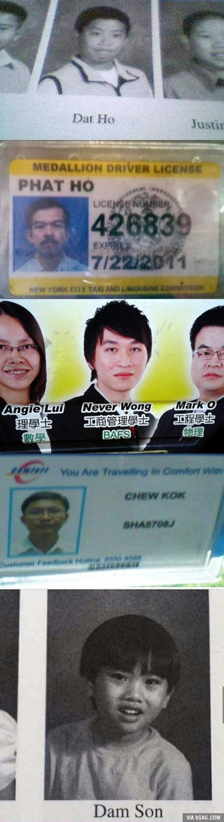 Funny Asian names
