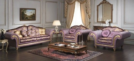 Luxury Classic Sofa and Armchairs by Vimercati Media