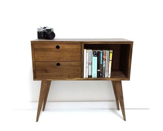 Metà secolo Madia moderna, Media Console, TV Stand, metà secolo mobili, tavolino, tavolo di ingresso, fine tavolo, tavolo in legno massello