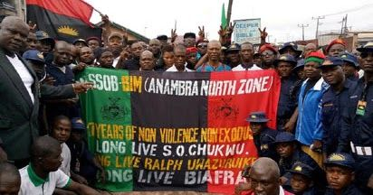 Individuals from the Movement for the Survival of the Sovereign State of Biafra (MASSOB) amid their rally to check the seventeenth commemoration of the development yesterday in Awka Anambra State.  The association kept up that Nigeria is as yet one sovereign country and all things considered the call is equivalent to a joke taken too far.  MASSOB handles IPOB over Anambra decision  As per MASSOB boycotting voters enlistment would be counter profitable to the re actualisation of Biafra…