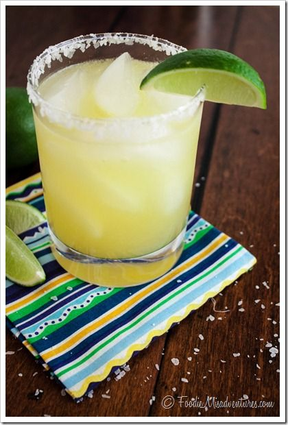 Skinny Margarita - Fresh lime juice and agave make this margarita a favorite in our house! You'd never know it only has about 160 calories per serving