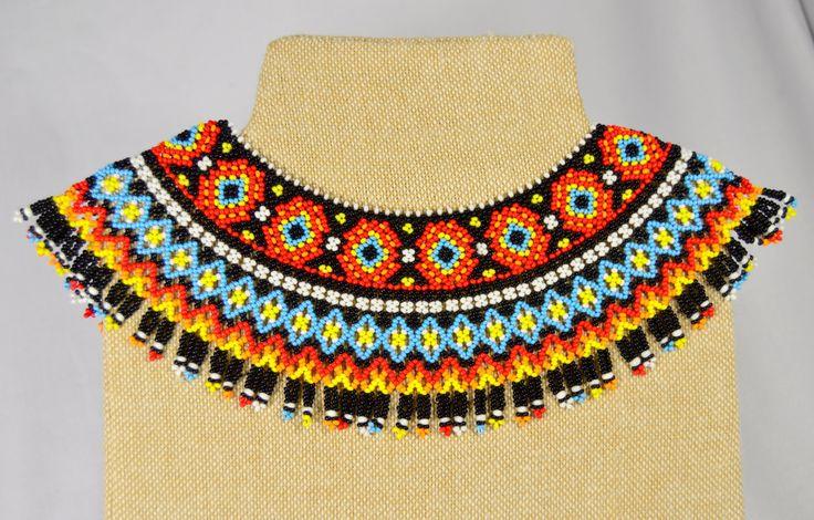 Ethnique la main bijoux perles collier Gerdan par NakaHandMadeShop