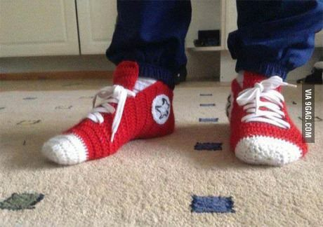 My grandma promised me converse, not exactly what I expected but still ...