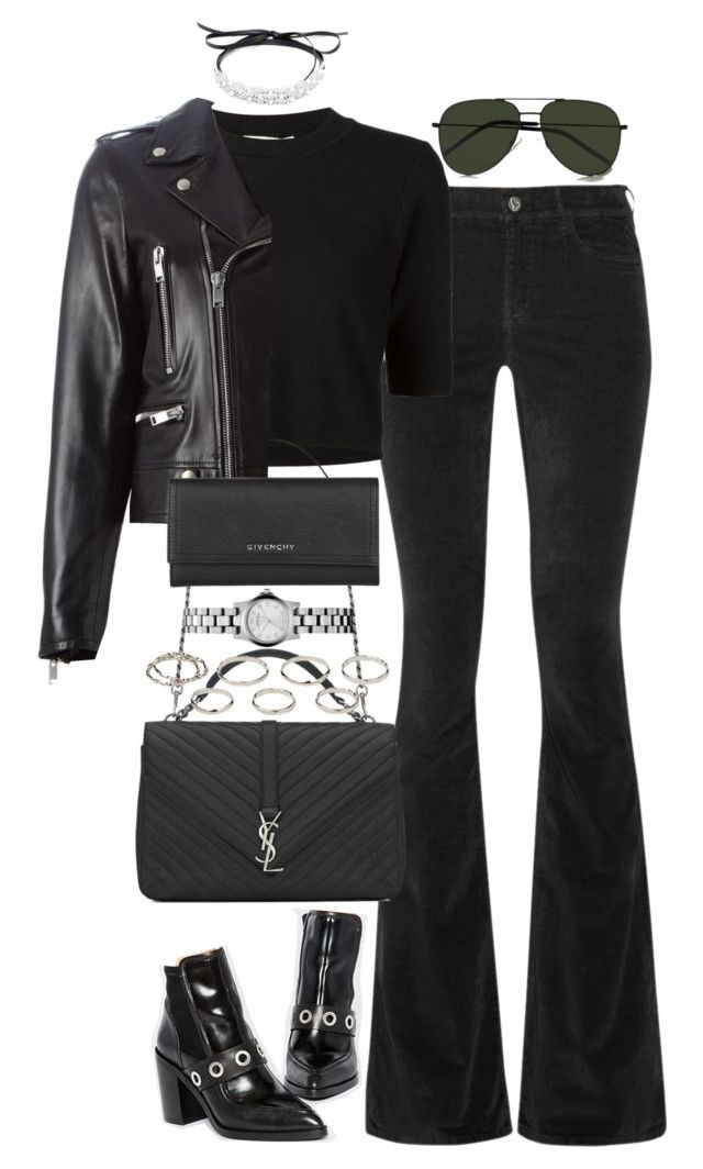 """Untitled #3687"" by lily-tubman ❤ liked on Polyvore featuring M.i.h Jeans, ASOS, Jonathan Simkhai, Fallon, Yves Saint Laurent, Akira, Marc by Marc Jacobs and Givenchy"