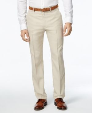 Alfani Men's Slim-Fit Chevron Pants, Only at Macy's - Tan/Beige 40x3