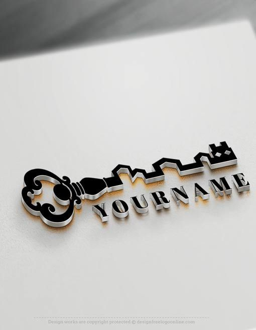 Real estate Logo Maker - Vintage Key Logos Free Logo Design Templates