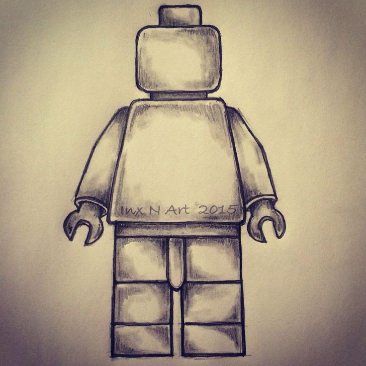Lego man tattoo sketch by - Ranz