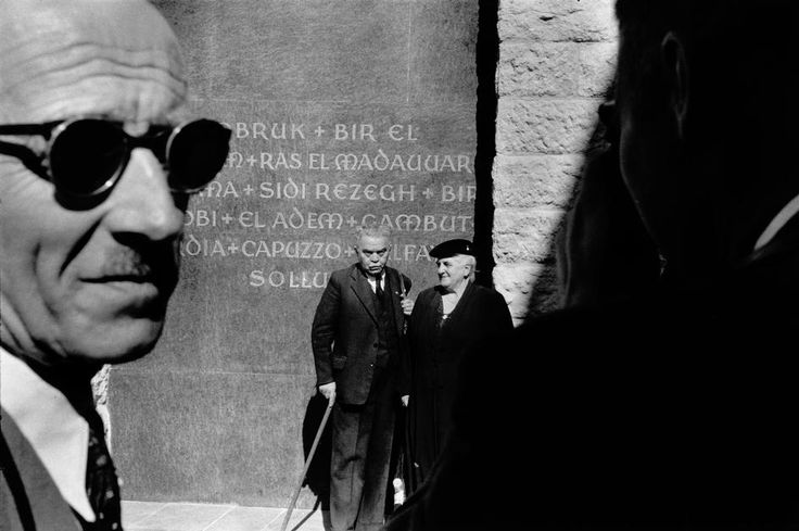 Rene Burri. LIBYA. Tobrouk 1955. Monument to the German soldiers killed during the battle of El Alamein.