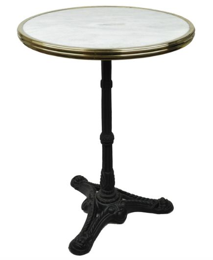 $399 http://www.houzz.com/photos/54110260/French-Bistro-Table-White-Marble-and-Iron-Base-traditional-indoor-pub-and-bistro-tables