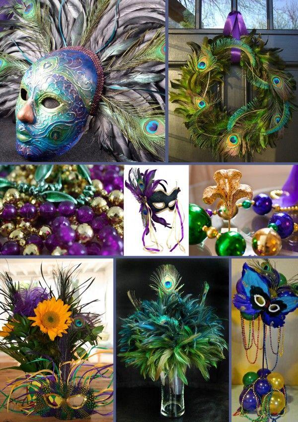 Peacock Mardi Gras Inspiration