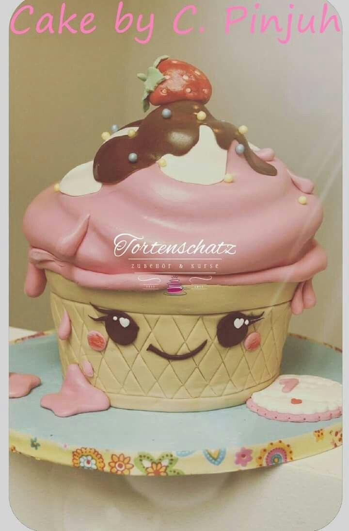 Ice cream Sundae Torte! 😍 gezaubert von unserer Kundin C. Pinjuh.  www.tortenschatz.de  #cakedesign #cutecake #tortenschatz #tortendesign #eiskreme #sundae