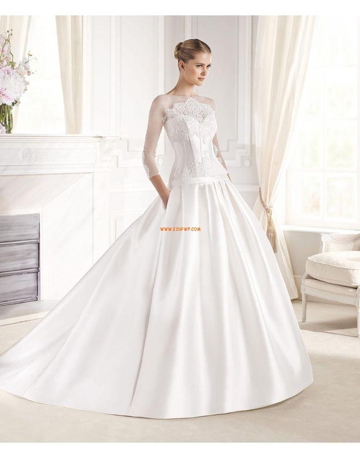 Halle Chic & Modern Reißverschluss Brautkleider 2015
