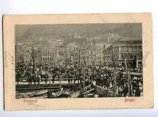 235420 NORWAY BERGEN Fisketoruet Vintage postcard
