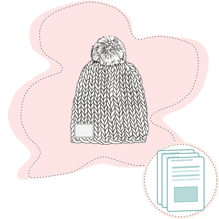 Tech Pack Template -  Chunky Beanie Size range 4-6Y to 10-12Y Recommended fabric: Chunky knit beanie, with fur pom. Fun trendy style beanie. Regular size. Ready-to-use documents for a perfect fit Documents are ready…