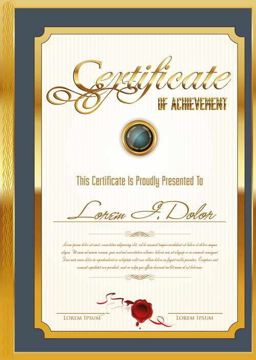 19 best Certificate images on Pinterest Certificate templates - new certificate vector free