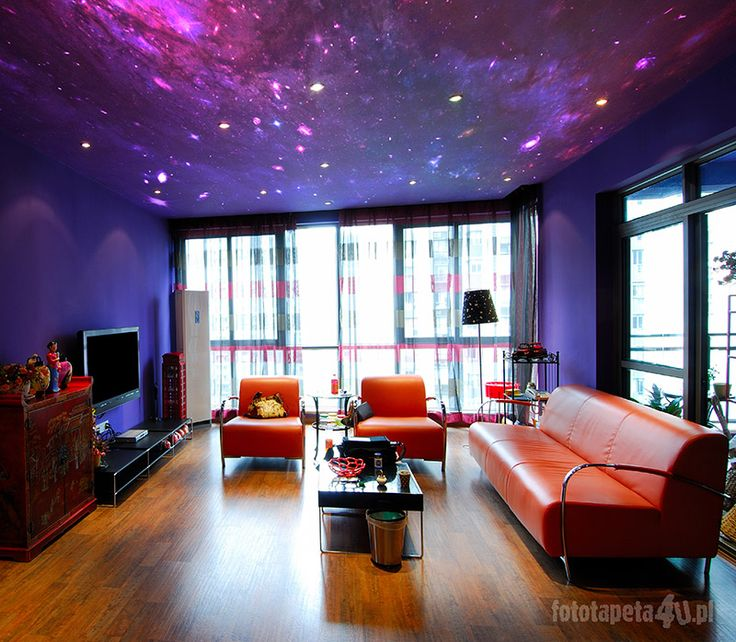 Galaxy ceiling, haha. I don't think I'm that eccentric to actually go through with something like this, but still really cool