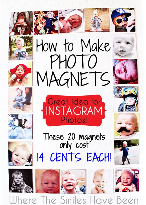 How to Make Photo Magnets: An Easy & Inexpensive DIY!  A great idea for Instagram photos that cost just 14 cents each!