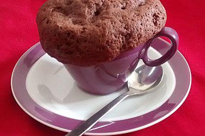 Mikrowellenkuchen mit Vanilleeis, ohne Ei 1