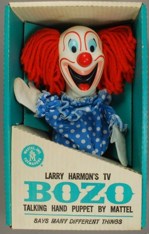 Vintage Bozo Puppet - I do believe this was also in doll form...