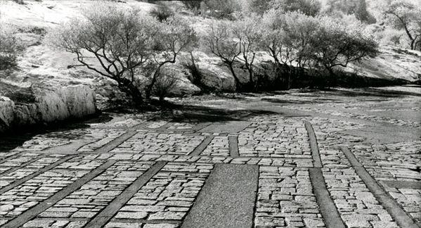 Pikionis' pathways weaving through the Acropolis of Athens