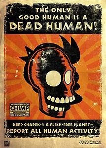 Futurama - The Only Good Human is a Dead Human - 20th Century Fox - World-Wide-Art.com - $175.00 #Futurama