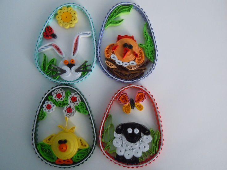 2013 Easter 2D eggs/My own original designs - Facebook.com/Zdenka Quilling