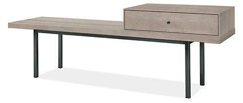 Morris Modern Bench with Drawer - Modern Benches & Stools - Modern Bedroom Furniture - Room & Board