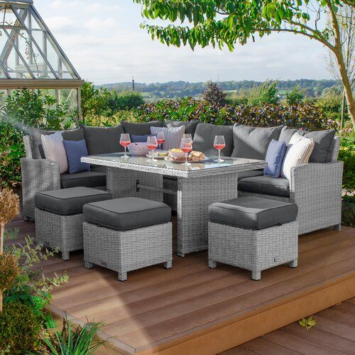 Belinda 10 Seater Corner Dining Set With Cushions Kampen Living Colour Frame Cushion White Was Corner Dining Set Rattan Corner Dining Set Rattan Corner Sofa