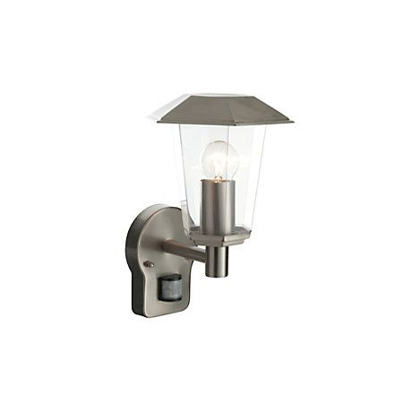 View Masterlite Seaton Stainless Steel External Wall Light with PIR details