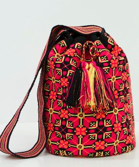 mochila, Single-thread Hand Crocheted by the Wayuu Women in Guairá Colombia